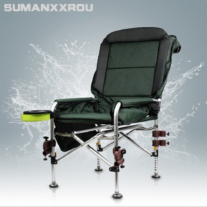 Luxury Fishing Chair Aluminum Alloy Deckchairs Multifunctional Fishing Chair Outdoor Leisure Fishing Stool for Relaxed Fishing fishing chair folding multifunctional fishing chair stool fishing supplies outdoor portable fishing chair