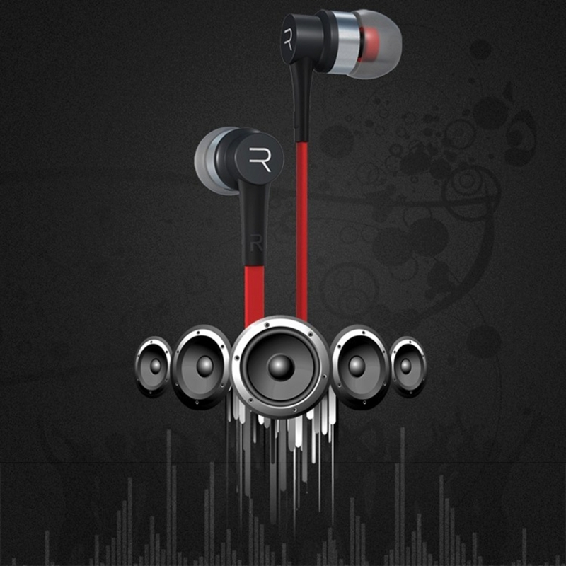 Stereo Earphone Professional In-Ear Earbuds Metal Heavy Bass Sound Quality Music Headset With Mic for Xiaomi Samsung MP3 MP4