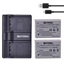 Batmax 2 шт. EN-EL5 EN EL5 EL5 литий-ионный Перезаряжаемые Батарея + Dual USB Зарядное устройство для Nikon Камера Coolpix P80 P90 P100 P500 P510 P520