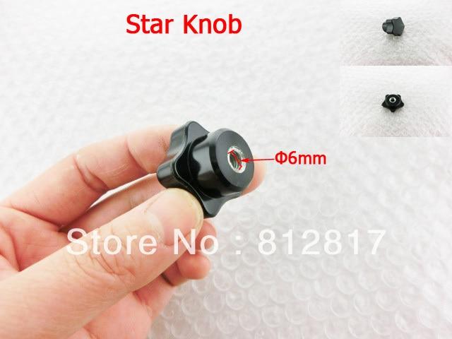 6mm Diameter Female Thread Black Plastic Screw On Type