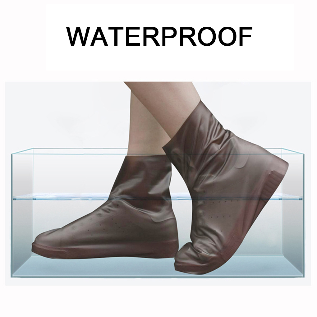 Image 2 - Anti slip Reusable TPU Shoe Covers Waterproof Rain Boot  Unisex Shoes Rain Cover Accessories-in Rain Covers from Home & Garden