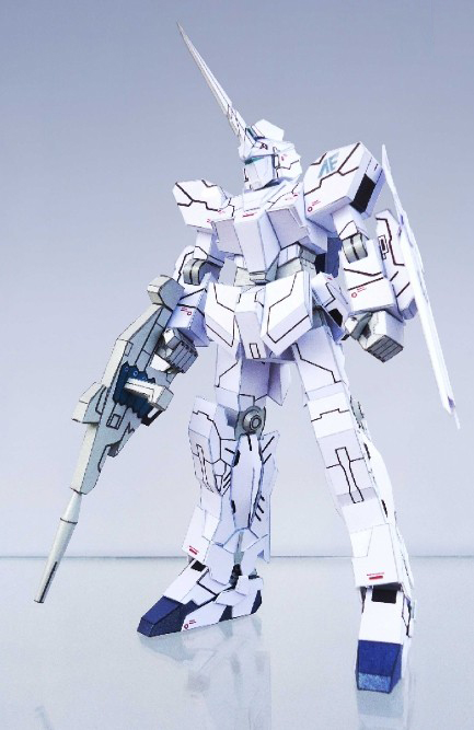 ộ ộ ༽rx O Unicorn Unicorn Gundam Normal Mode Mode Paper 3d