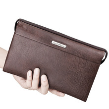 HANSBAND Vintage High Quality Luxury Genuine Leather Bag Casual Brand Handbags Large Capacity Business Men Clutch