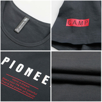 Pioneer Camp New arrival T shirt men brand clothing fashion letter T-shirt male quality cotton casual stretch Tshirt ADT702142 4