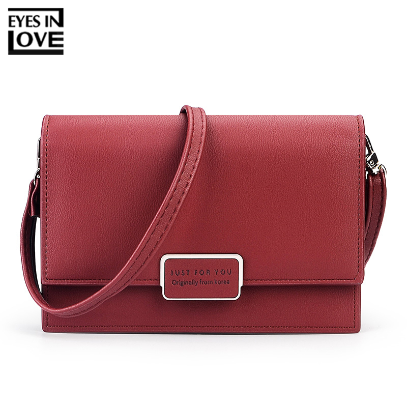 EYES IN LOVE Famous Brand Designer Small Flap Women Messenger Bag Soft Leather Female Shoulder & Crossbody Bags Ladies Purse Bag new fashion women bag ladies messenger bags 2017 crossbody shoulder bag woman leather black knitting small flap designer brand 3