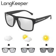 LongKeeper Photochromic Polarized Sunglasses Men Change Color Sun Glasses Car Driving Chameleon Goggles oculos masculino UV400 цена и фото