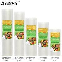 Food Grade Vacuum Bag Rolls Group For Household Vacuum Sealer Size 12 17 20 25 28cm