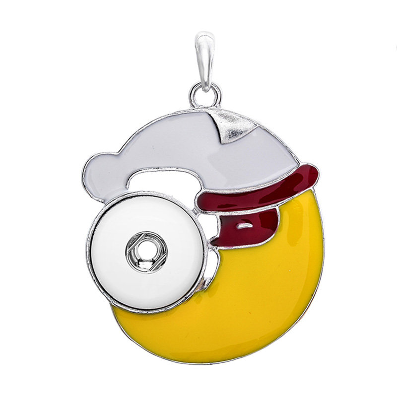 Bohemia Christmas hat Snap Button Jewelry Pendant Necklace With Jewelry (fit 18mm snap) TZ042