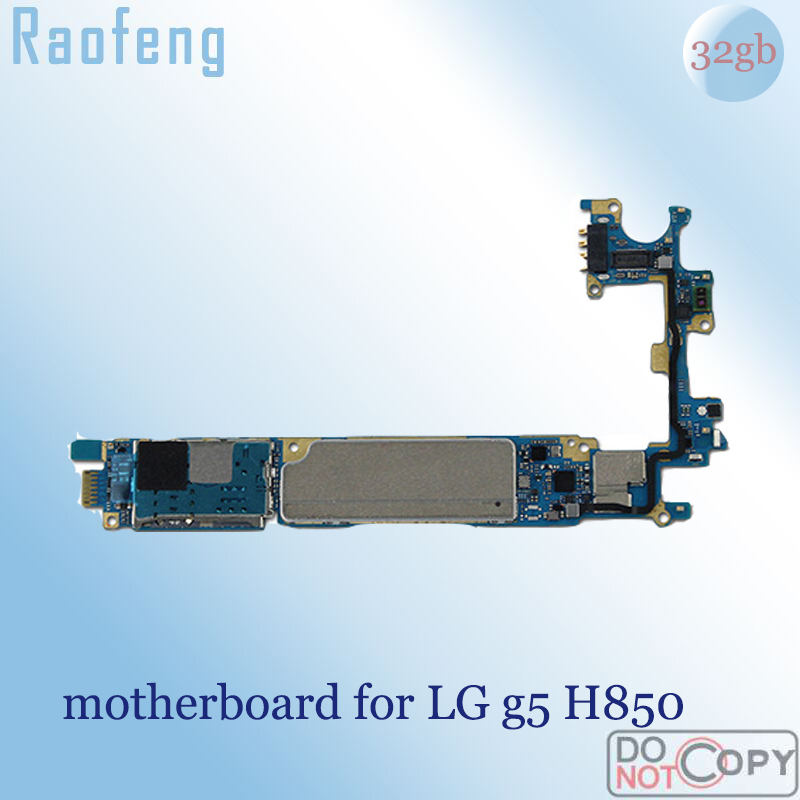 Raofeng  32gb Disassembled High quality motherboard For lg g5 H850 compliant android Unlocked Mainboard well worked with chips(China)