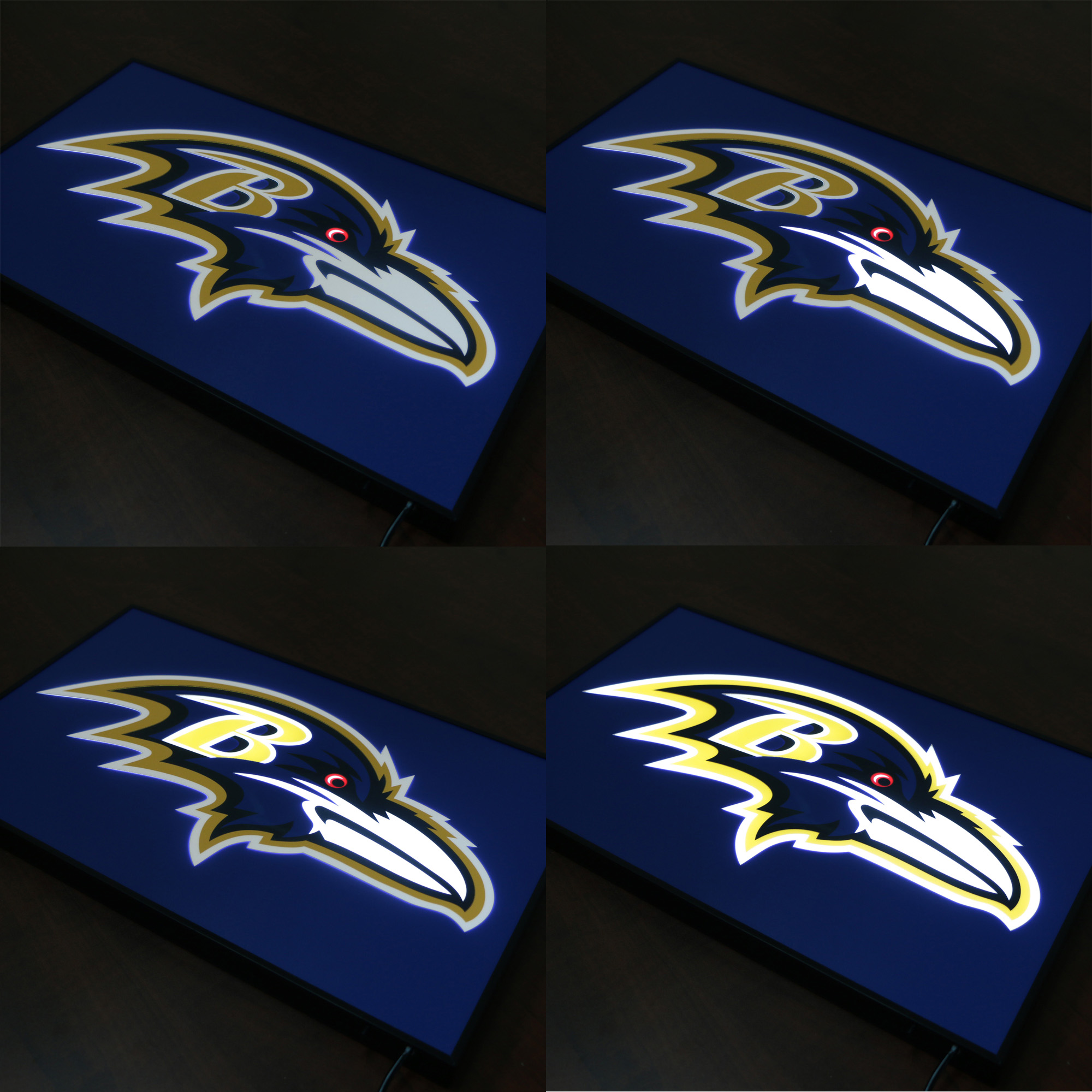 Baltimore Ravens Bar Sign Animation Effect LED Dynamic Light Box