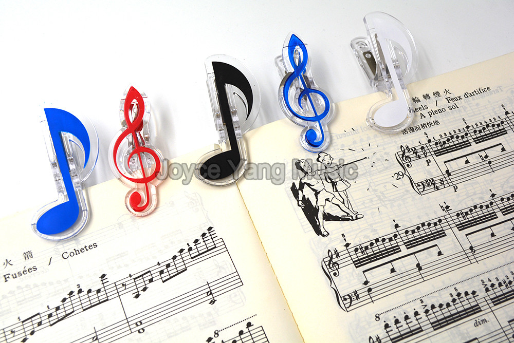 Niko Treble Notes Bass Clef Grand Piano Music Book Note Paper Sheet Spring Clip Holder For Piano Guitar Violin Performance