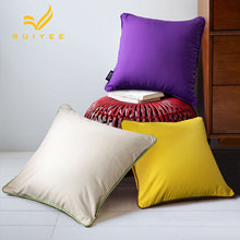 Exquisite modern minimalist solid color cotton pillow RUIYEE home decoration cushion cover sofa pillowcase bedcushion