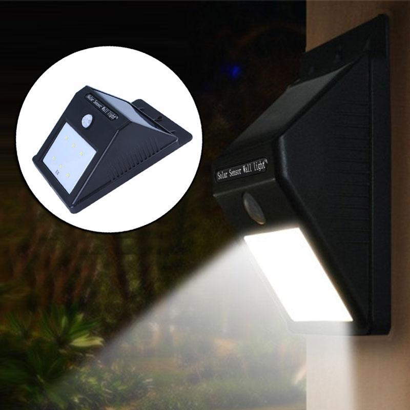 Solar Energy Lamp 6 Led Super Bright Human Body Induction Lamp Energy-saving Wall Lamp Night Light --M25