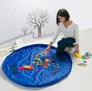 Image 3 - Portable 78 Inch Large Play Mat For Kids Playmat Multi function Car Toys Storage Bag Organizer Family Picnic Playing Mats 200CM