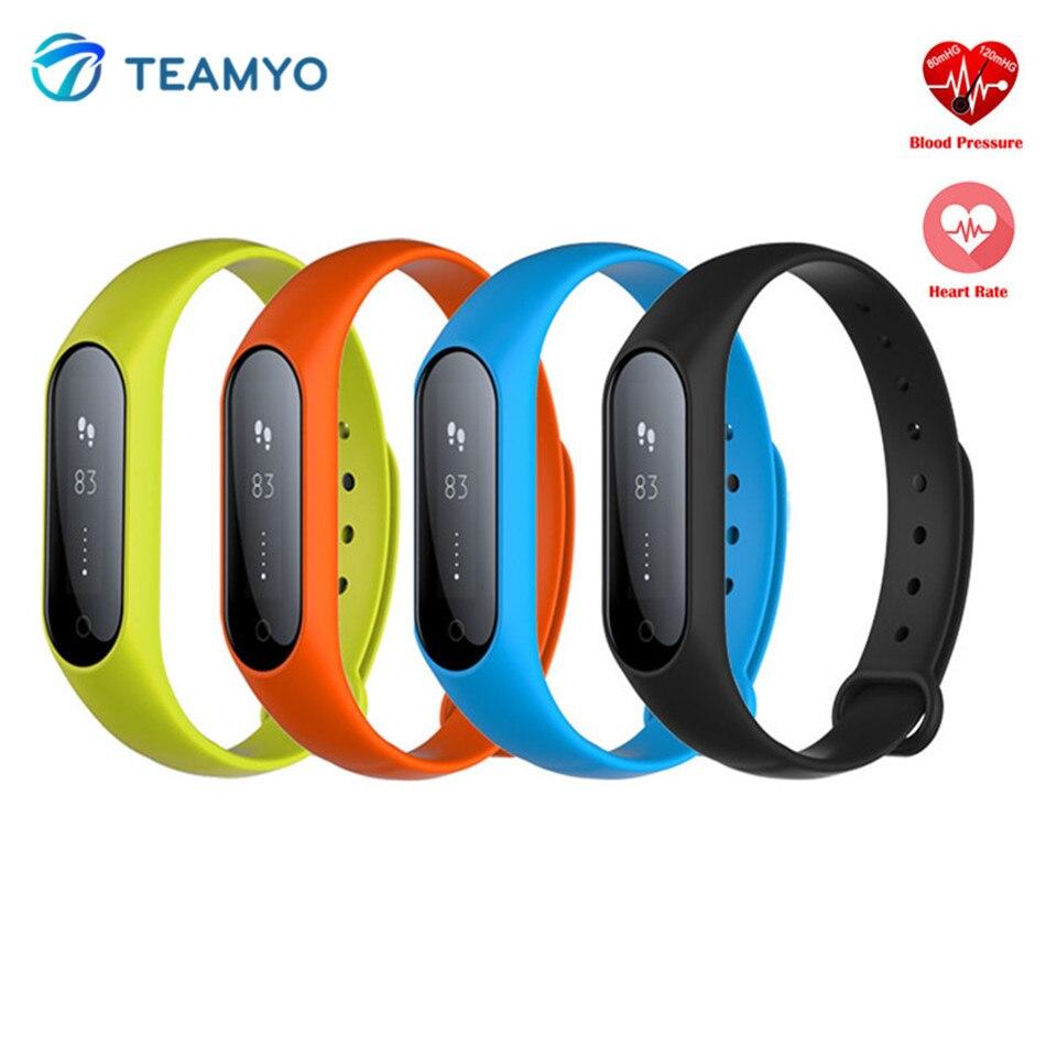 imágenes para Teamyo Y2 Más Inteligente Band Pulsera Inteligente Usable Dispositivos Perseguidor de La Aptitud Del Ritmo Cardíaco Del Pulso Monitor de Sueño Para Android IOS Teléfono