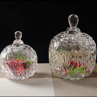 Crystal Pot Candy Tank Glass Continental Storage Tank Snack Tank Disproportionable Large Decorative Cover With Transparent