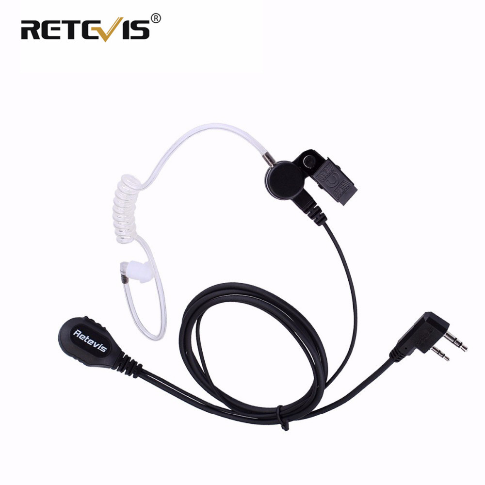 RETEVIS RE-2322 Air Acoustic Tube Earpiece PTT Mic Walkie Talkie Headset For TYT MD-380 MD380 MD 380 Retevis RT3 RT3S J9110A