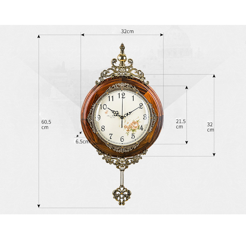 Ouyun antique wooden wall clocks pendulum fashion modern luxury wall clocks home decor silent - Stylish pendulum wall clock ...