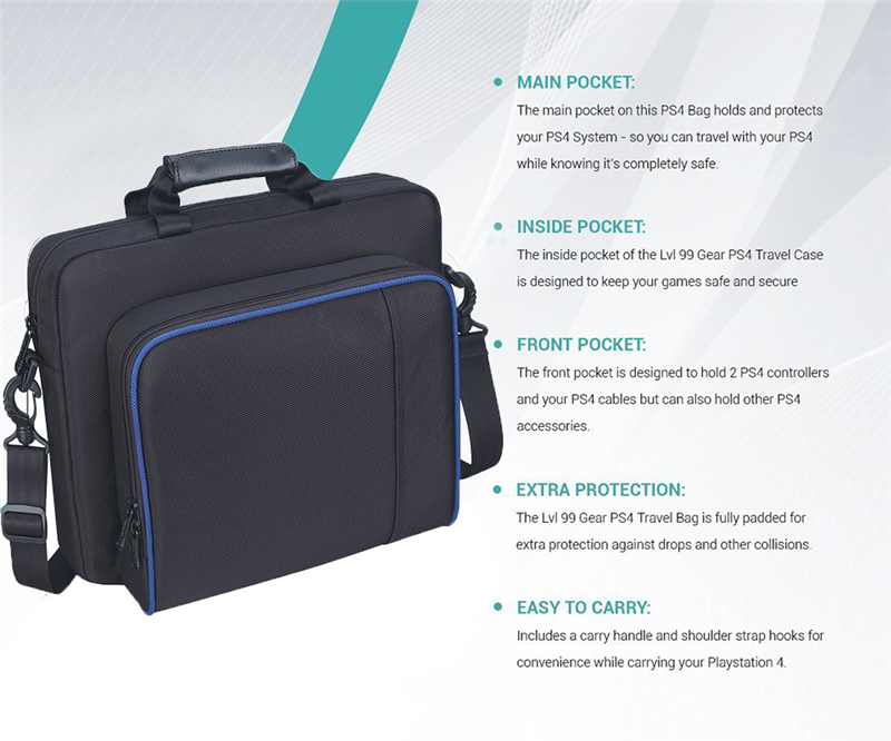 Caso Di Ps4 Per Carry Playstation Proteggere Bag Originale Spalla Formato Sony Tela Pro Console 4 Borsa xqYI1OE