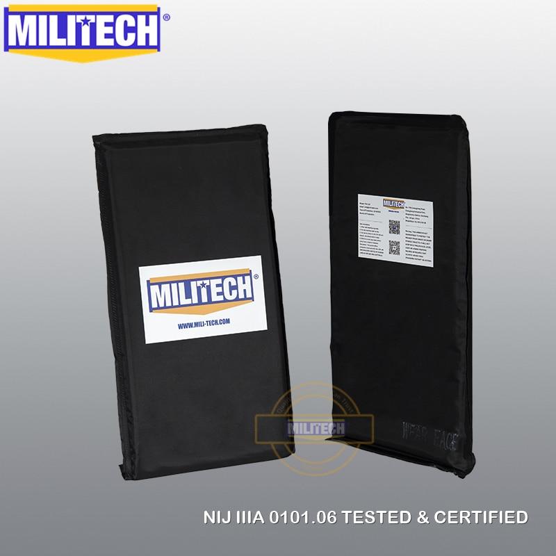 MILITECH 6 x 12 Pair Aramid Ballistic Panel Bullet Proof Plate Inserts Body Armor Cummerbund Plate