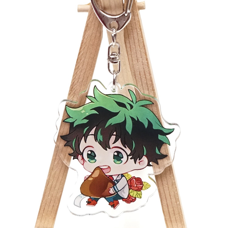 Anime my hero Academy keychains Acrylic Keychain Keyring Charm Stand Figure Key Ring New double sided Key Chains
