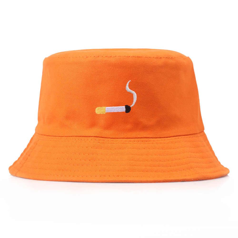 Шляпа-ведро с вышивкой для мужчин и женщин в стиле хип-хоп, рыбацкая шляпа для взрослых, Панама Боб, летняя шляпа для влюбленных