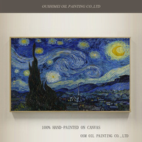 Professional Artist Handmade High Quality Reproduction Vincent Van Gogh Oil Painting The Starry Night Oil Painting