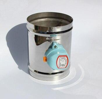 Valve électrique de valve d'air d'acier inoxydable de 100 MM, type étanche d'air d'amortisseur d'air de 220VAC, valve de tuyau de ventilation de 4