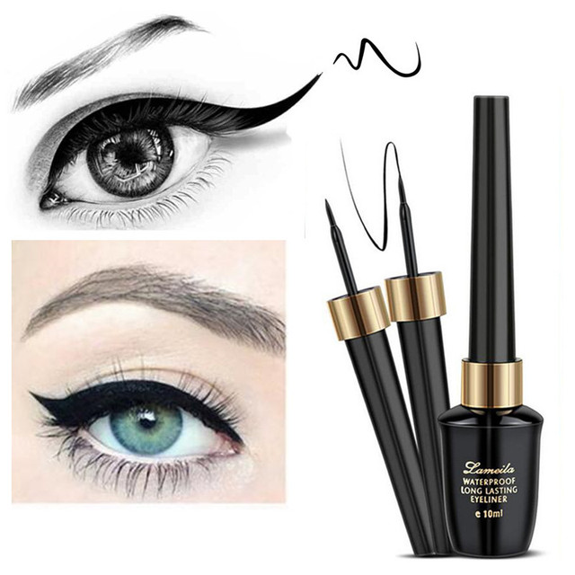 Brand New Beauty Makeup Cosmetic Black Long-lasting Waterproof Eyeliner Liquid Eye Liner Pen Pencil Makeup Beauty Tool Set 3
