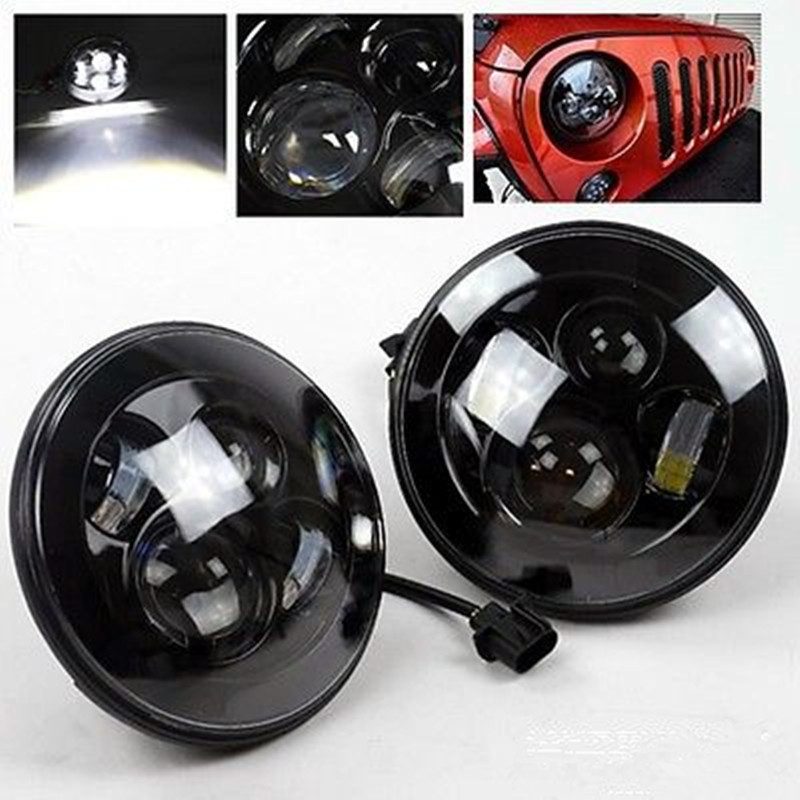7 led Healight 40w replacement For Jeep led headlight 7 with H4 Hi/Low Beam For Jeep TJ JK CJ Wrangler For Hummer defender 60w 12v 4300k universal cree led headlight with hight power led driving lights for jeep wrangler cj 7 cj 8 replacement kit