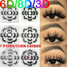 7 Pairs Natural False Eyelashes Fake Lashes Long Makeup 6D 8D Mink Eyelash Extension For Beauty