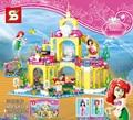 2016 New SY374 400Pcs Princess Undersea Palace Model Building Kits figures Blocks Bricks Girl Toy Gift
