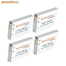4pcs akku 3.6v 1400mAh NB-4L NB4L NB 4L  Battery for Canon IXUS 30 40 50 55 60 65 80 100 I20 For PowerShot SD1000 1100 L20