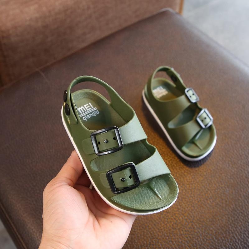 2019 été garçons sandales en cuir pour bébé plat enfants chaussures de plage enfants Sports doux antidérapant décontracté bambin sandales 1-5 ans