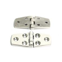 2 Pcs Durable 304 Stainless Steel Boat/ Door Hinge Stamping Cabinet Marine Hardware 76*38*2mm