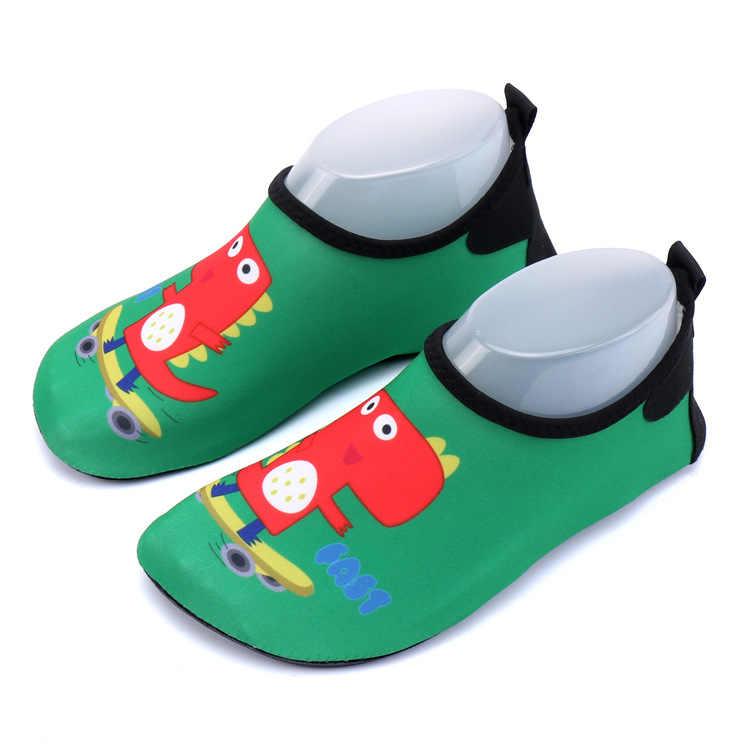 ילדי Cartoon דינוזאור שחייה חוף מים כפכפים ילדים ילדה ספורט לגלוש סנדל פעוט בנים חיצוני קיץ יוגה רך נעליים