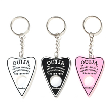 1PC Ouija planchette resin charm keychain keyring board handbag charms for woman