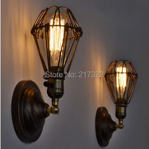 American style bedside antique wall lamp single-head living room lights vintage fashion bar lamps(China)
