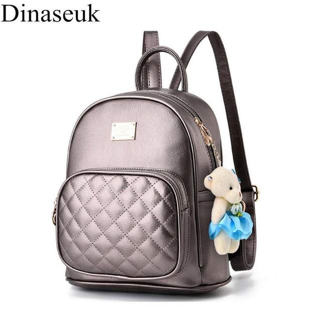 f794fbf7c4be Dinaseuk Small Women s PU Leather Backpack College School Travel Shoulder  Bag Cute Mini Fashion Daypacks Rucksack For Lady Girl
