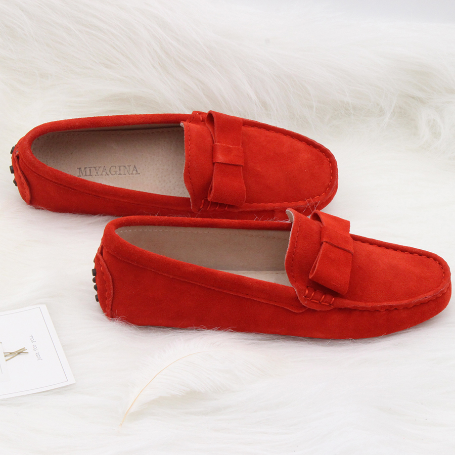 Summer Women Shoes Slip on Woman Genuine Leather Flat Shoes Fashion Handmade Leather Loafers Female Casual Shoes Women Flats cresfimix women cute spring summer slip on flat shoes with pearl female casual street flats lady fashion pointed toe shoes