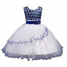 89b5f6367cca1 2018 جديدة مطرزة بنات الأميرة فساتين أطفال بنات فساتين حفلة عيد الميلاد  تأثيري زي الفتيات الملابس