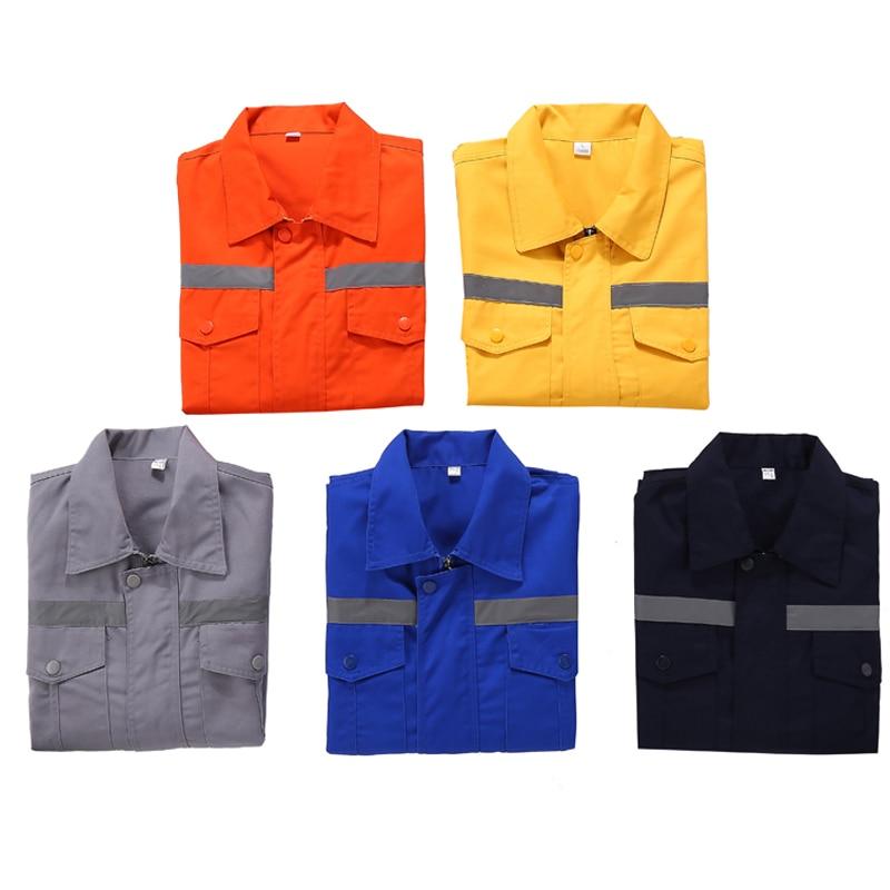 Uniformes de trabalho de manga longa jaqueta de trabalho azul marinho