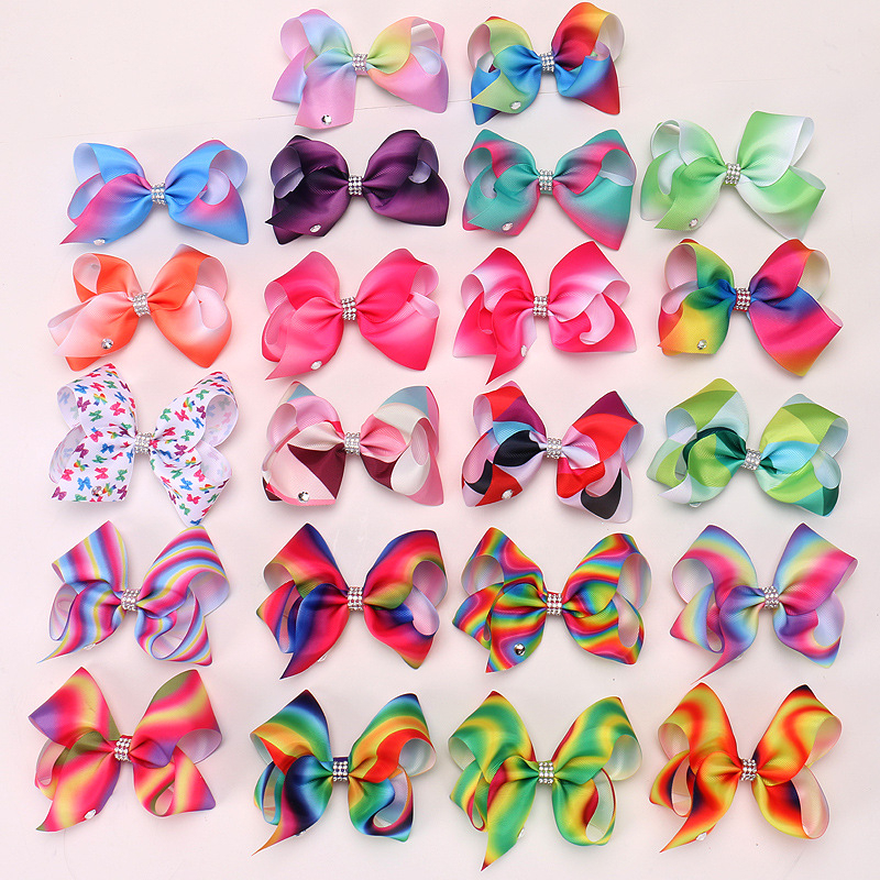 gradient rainbow colors big bowknot
