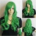 CS85&Wholesale 20145W ***Elegant Long Wavy Green Cosplay women Wig