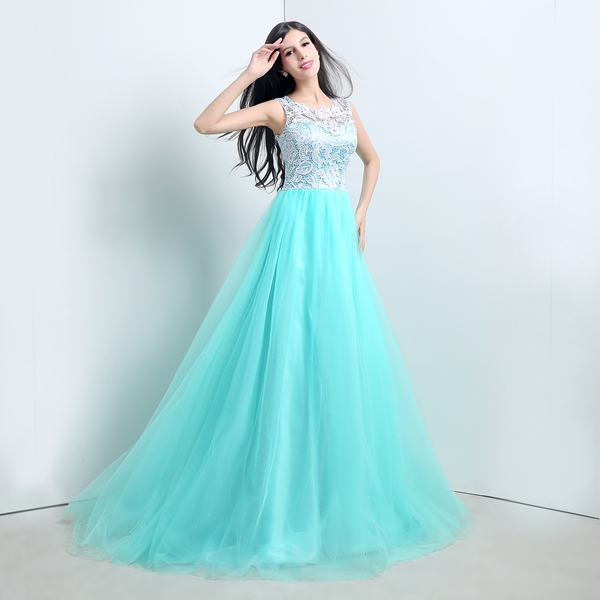 Popular Green White Prom Dresses-Buy Cheap Green White Prom ...