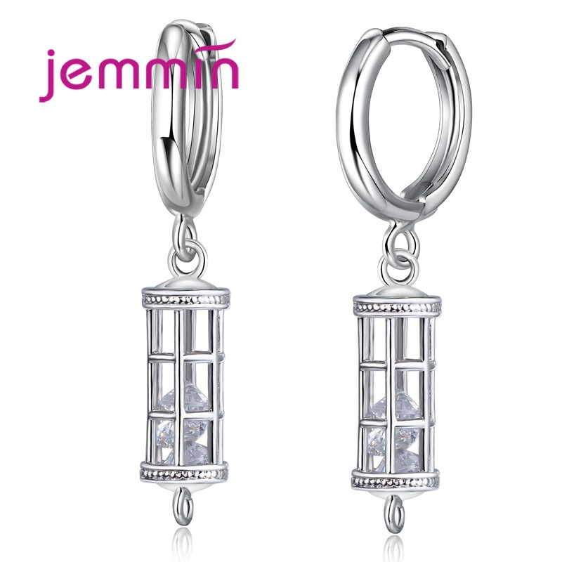 Jemmin Geometric Shaped Jewelry Findings Hoop Earrings Accessories 925 Sterling Silver Fine Jewelry For Women Party