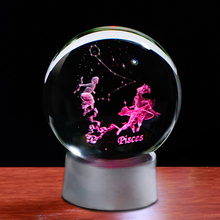 Glass Globe Sphere Decoration Home-Decor-Accessories Zodiac Pisces Signs Horoscope