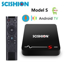 Novo MODELO SCISHION S Android Caixa TV 8.1g RAM 16 2g ROM RK3229 Casa Threater Apoio 4 k h.265 2.4g De Vídeo Wi-fi PK TX3 voz caixa de tv