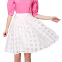 YSMARKET White Pink Mesh Skirt Sexy Clubwear 2017 Elegant Clothes China Online Store Fashion Mini Skirts