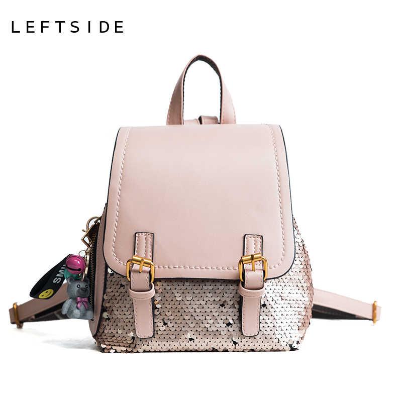 406b0c9a4383 LEFTSIDE модные блестки женские рюкзаки большой емкости для отдыха рюкзак  женский рюкзак для девочек-подростков